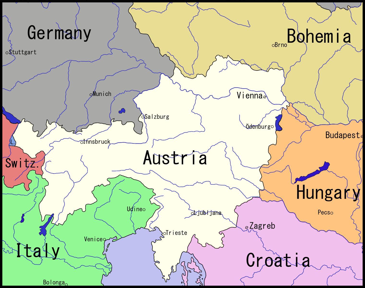 Kort Over Wien Ostrig Og Omegn Kort Over Wien Og Omegn Ostrig