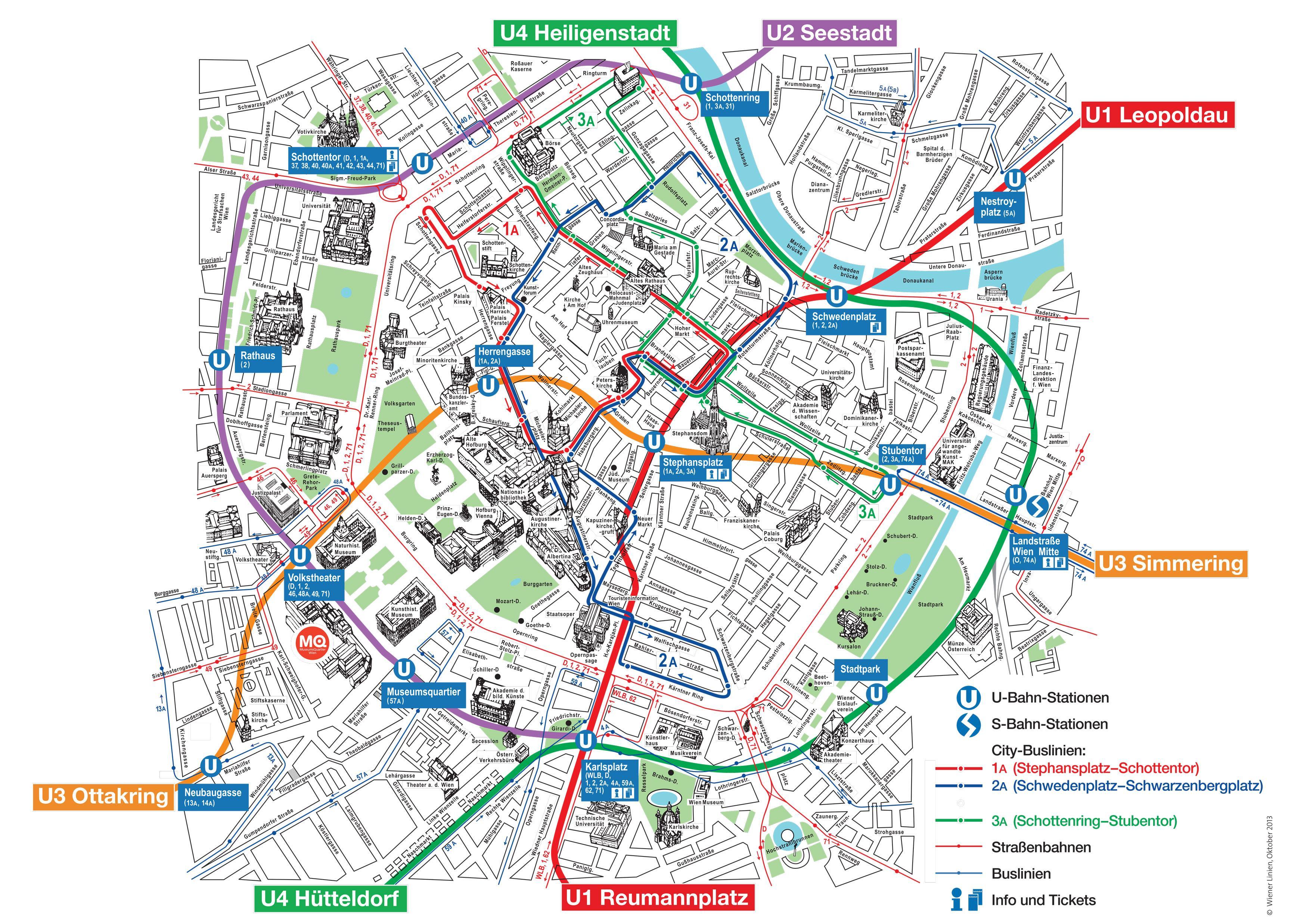 Kort Over Wien Ostrig Turistattraktioner Wien Turist Kort Ostrig